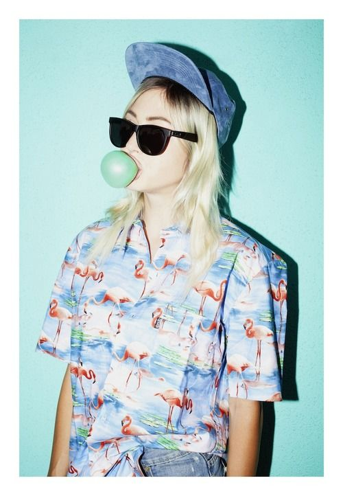 Love this casual look...bubble gum pop!